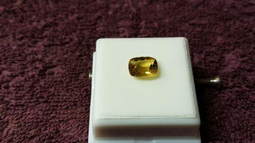 JTV 10x8mm Cushion Cut Golden Beryl (Heliodor) VVS Clarity 2.79 ct (Top Color)