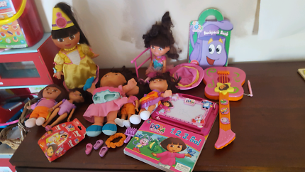 Dora dolls and various items
