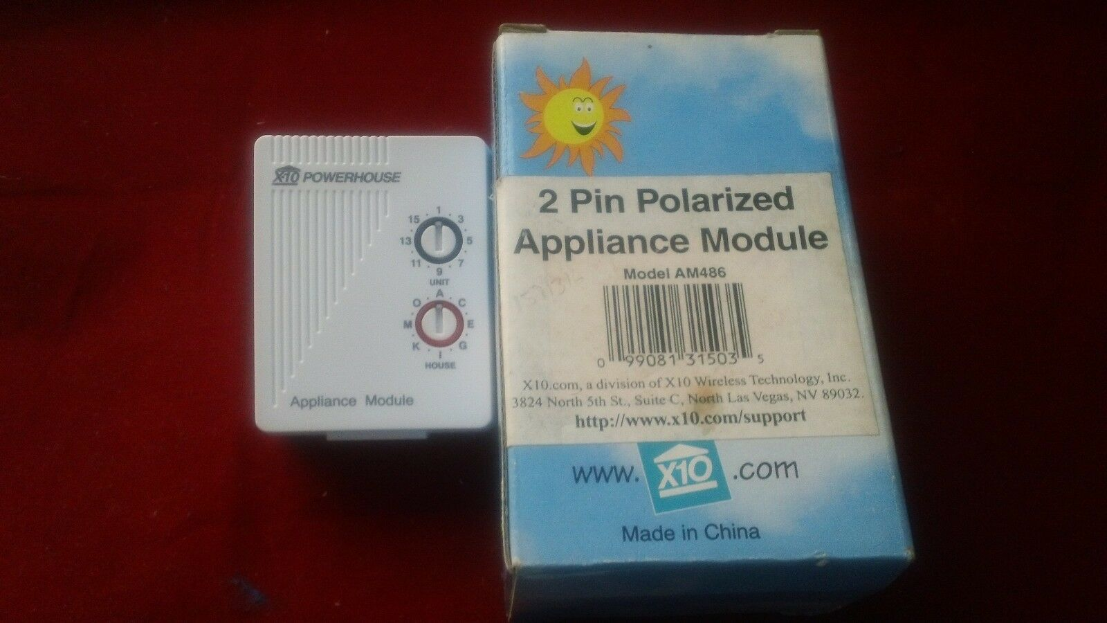 X-10 2 PIN POLARIZED APPLIANCE MODULE
