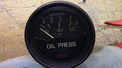 1986 STARCRAFT MERCRUISER BOAT 140HP MEDALLION OIL PRESS PRESSURE METER GAUGE