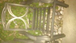 Metal and glass outdoor table