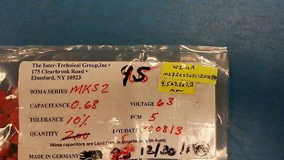 5 Pcs Mks2c036801e00kssd Wima Film Capacitors 63v .68uf 10 Pcm5 Rohs