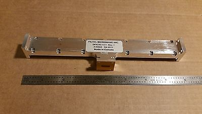 Filtel Microwave Dpx23g-13-1 Waveguide Diplexer Wr-42 22700mhz 21500mhz K-band