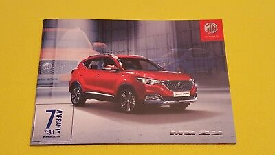 MG ZS Explore Excite Exclusive car brochure catalogue February 2018 MINT Z S