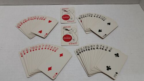 Coca Cola Playing Cards 1951 Complete Deck With 2 Jokers