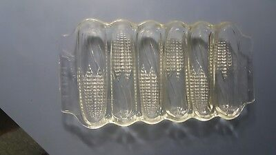 Vintage Miracle 1940's  Maze Corn Glass Bread Baking Dish