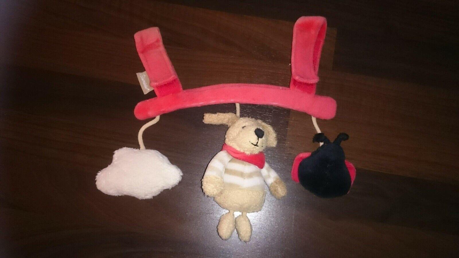 STERNTALER Spielzeug Hund Wolke Käfer Babyschale Maxi Cosi Mobile Baby Auto rot