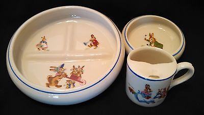 Vintage Tot Trainer Childs Dinner Set Beatrix Potter Porcelain by Dwight Morris
