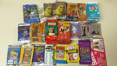 Disney & Comic & Movie 70 Assorted Trading Card Unopened 70 Pack Lot Gift