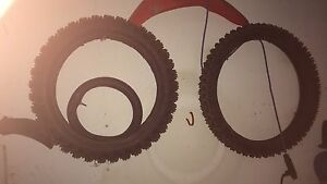 """Pro made Dirtbike ice tires (21"""" front, 19"""" rear)"""