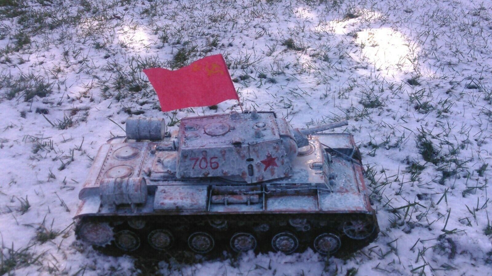 1 16 Scale Heng Long RC Tank Russian KV-1 Custom Paint Metal Upgrades - $299.00
