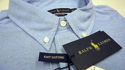 NWT $125 Polo Ralph Lauren LS KNIT Mesh Oxford Style Shirt Men Blue XLT NEW Mesh-oxford