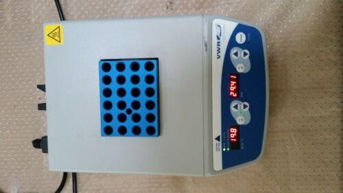 VWR Digital Dry 1 Block Heater Incubator 12621-084 w DI 1cm Block Excellent