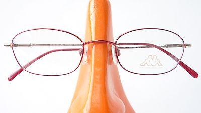 Brille Metall Rahmen rot silber Damen Mädchenbrille frame Fassung Gestell Gr M