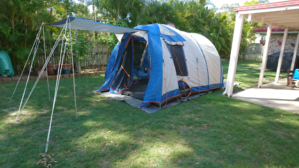 Spinifex Huon two bedroom six man tent  with tarp groundsheet
