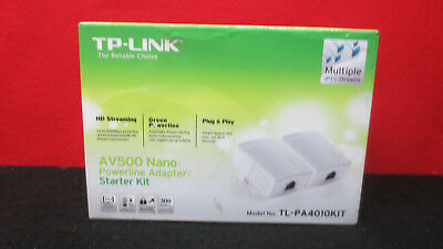 TP-Link AV500 Nano Powerline Adapter Ethernet Starter Kit (TL-PA4010KIT)