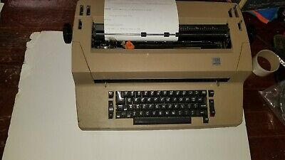 Vintage Htf Ibm Correcting Selectric Ii 2 Electric Typewriter Tan Mostly Works