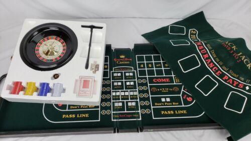 Excalibur 3 in 1 Traveling Casino Game Set Comp Roulette Craps Blackjack