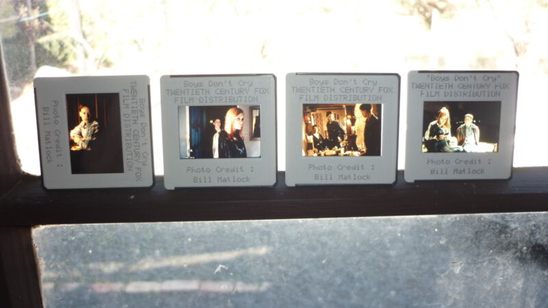 COLLECTION OF 4 ORIGINAL MOVIE FILM CELLS, BOYS DONT CRY HILARY SWANK