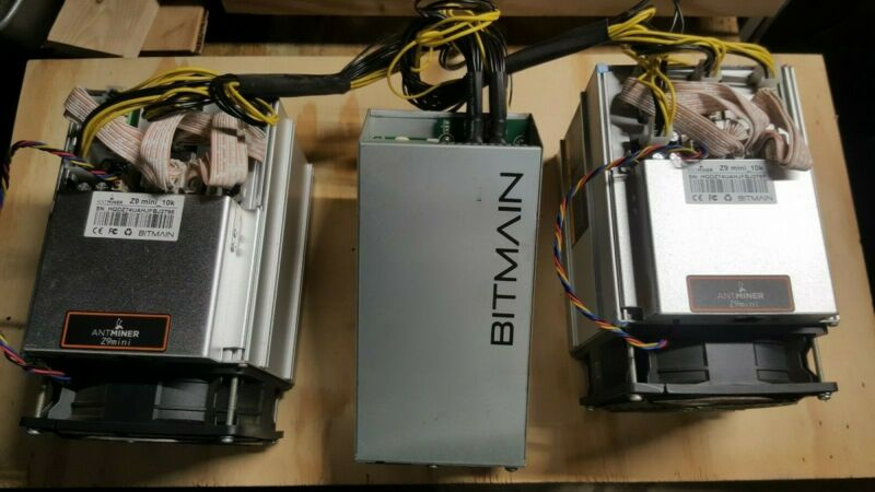 TWO Bitmain Antminer Z9 Mini(s) WITH Power Suppy