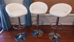 Bar Stools x 3 White. Brand New. West Pennant Hills The Hills District Preview
