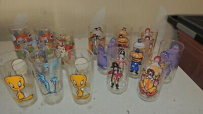 15 Vintage McDonald's 1975 Original Character Collector Series Glasses and more