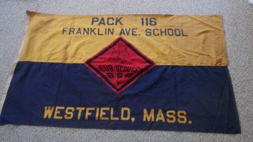 WESTFIELD MASSACHUSETTS FRANKLIN AVE SCHOOL BOY SCOUT OF AMERICA  FLAG 1950 BX B