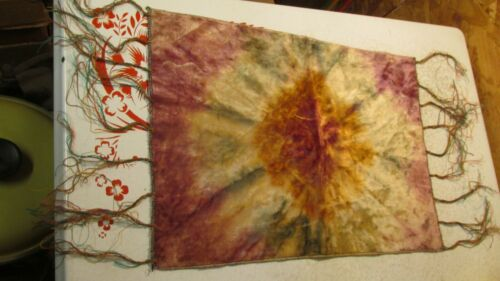 Antique Batik Velvet Table Scarf 11 1/2 x 15