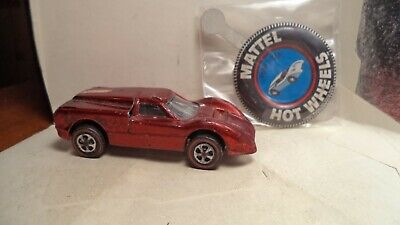 Vintage Hot Wheels Red Lines USA 1968 Ford J-Car [Red] w/button