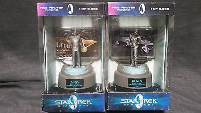 Star Trek Champions- Fine Pewter - Kirk & Khan - Limited Edition