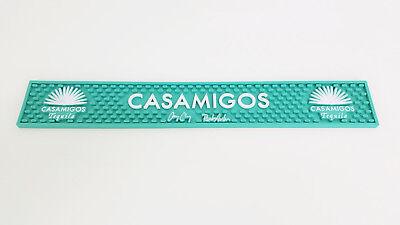 New Casamigos Tequila Rubber Bar Rail Runner Mat Spill Mat George Clooney Teal