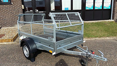 NEW Car trailer cage - mesh 6,8ft x 3,8ft 750kg SINGLE AXLE