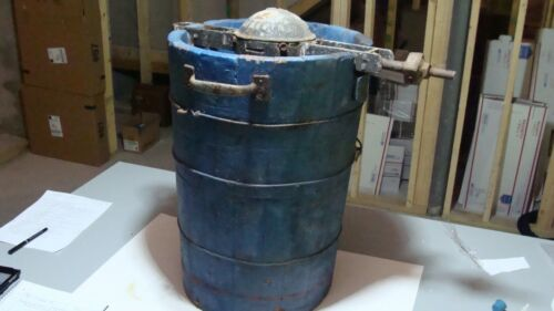 EARLY WARDWAY 12 Quart Hand Crank ICE CREAM MAKER Very Rare 1800