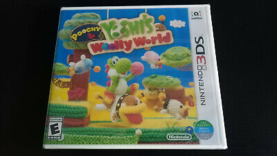 BRAND NEW - POOCHY & YOSHI'S WOOLLY WORLD - NINTENDO 3DS