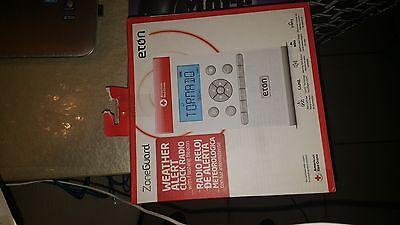 New Eton ZoneGuard American Red Cross AM/FM Weather Alert Clock Radio White