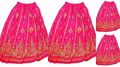 Wholesale Skirt Sets (6  WHOLESALE LOT HANDMADE INDIA SEQUIN SUMMER LONG SKIRT 36