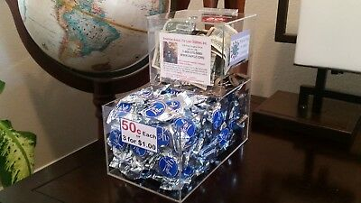 10 New Locking Acrylic Honor Candy Selling Donation Box Vending Route Business