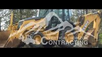 Backhoe excavating and snowplowing / snow removal services