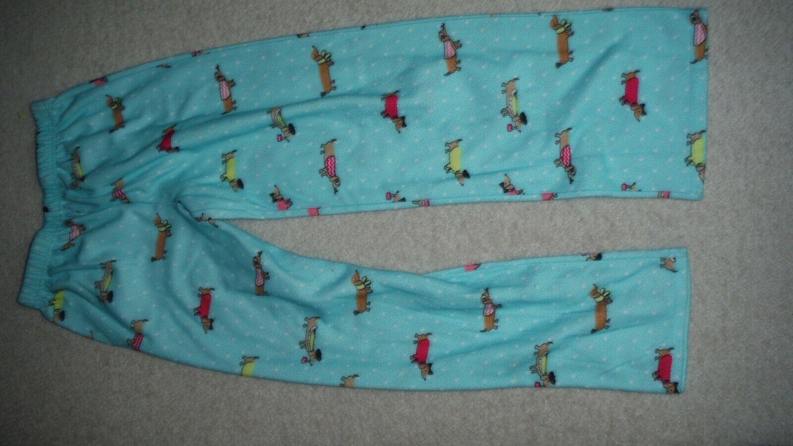 Joe Boxer Girls Fleece Pajama Pants Dog Size L NEW