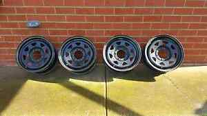 CSA 16x7 black Sunrasier steel Wheels. 4x4 Roxburgh Park Hume Area Preview