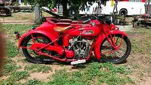 indian chief motorcycle mid 20s with  sidecar Balladoran Gilgandra Area Preview