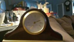 DANBURY Clock Company Quartz Desk Wood Mantle Clock ~ German Movement ~ WORKS