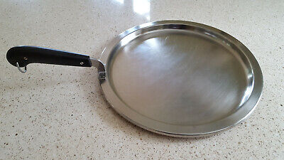 VTG RARE 1955 Copper Clad Bottom Pot Revere Ware griddle Fry Skillet Round.Pan (Bottom Griddle)