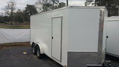 New 7x16 V Nose Enclosed Trailer Utv Rzr 4 Wheeler Ranger Atv