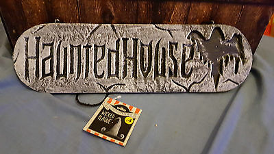 Halloween Wilko's Spooky Wicked Plaque HAUNTED HOUSE hard plastic free uk p&p ](Wilko Halloween)