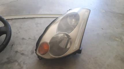 S15 Steering Wheel. V35 headlight and spoiler