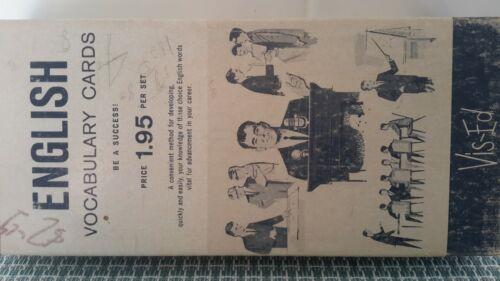 Vintage 1950's Vis-Ed English Vocabulary Flash Cards Flashcards 1000 Words