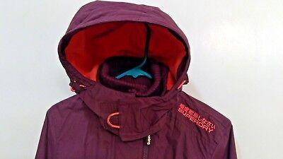 """""""New"""" Superdry Pop Zip Hooded Arctic Windcheater Jacket~Womens~sz:S~ MSRP $150"""