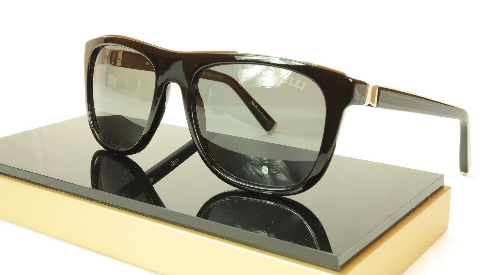 f7799e109de ZILLI Sunglasses Polarized Black Hand Made Acetate Titanium France ZI 65004  C03 фото