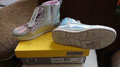 Khombu Winter Side Zip Up Winter Snow Girls Kids Boots Water Resistant